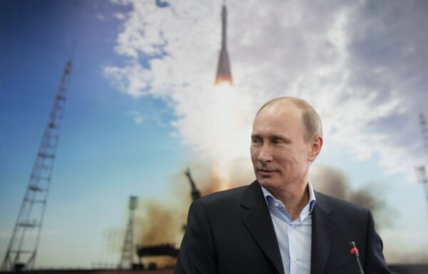 Президент РФ Владимир Путин в День космонавтики