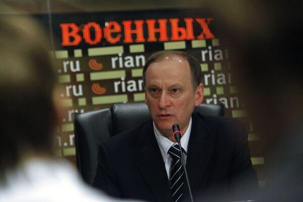 Пресс-конференция секретаря Совета безопасности РФ Николая Патрушева