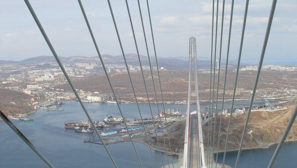 Мост на остров Русский во Владивостоке. Архивное фото