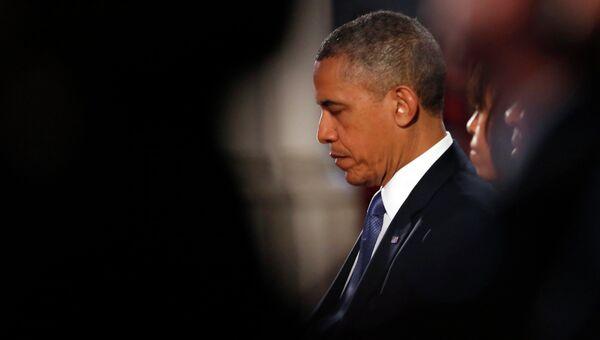 Барак Обама на поминальной службе по жертвам теракта в Бостоне
