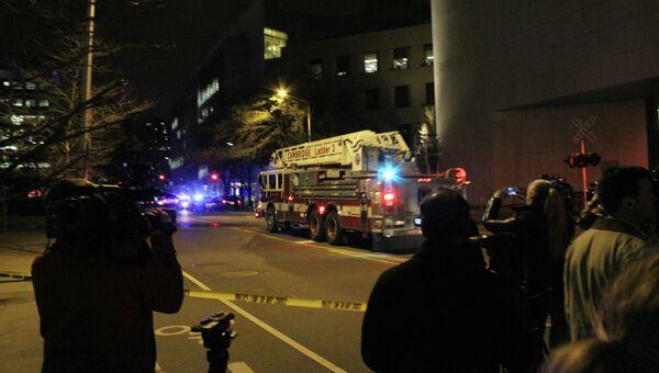 Полиция работает на территории Массачусетского технологического института