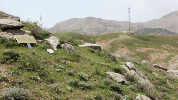 Табличка на месте боев в Панджшерском ущелье
