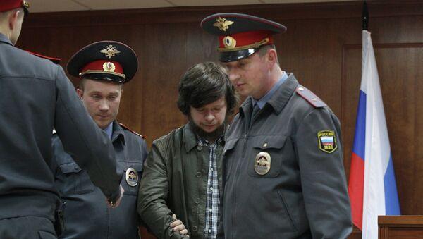 Константин Лебедев в зале суда, архивное фото