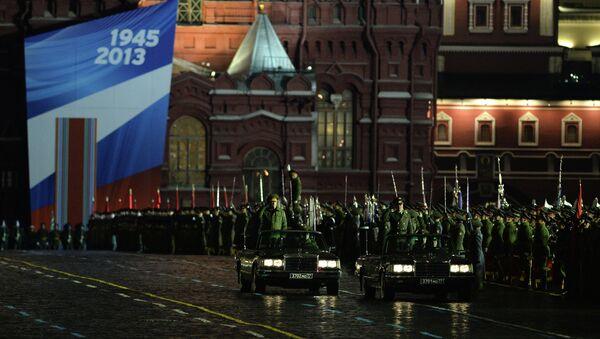 Репетиция парада на Красной Площади. Архив