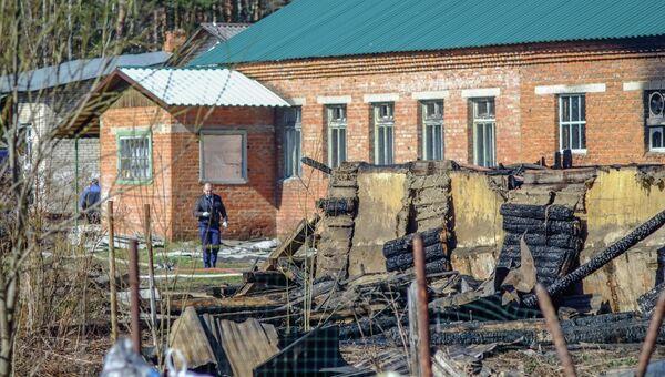 Последствия пожара в психиатрической больнице в Подмосковье