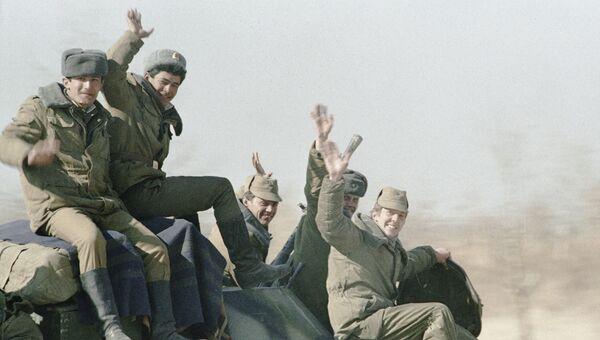 Советские войска покидают Кабул. Архивное фото
