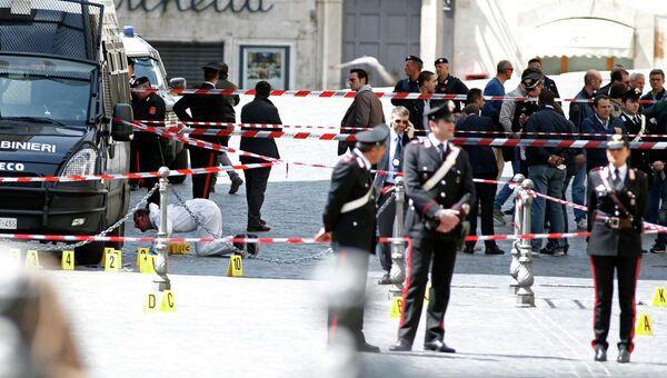 На месте стрельбы в Риме