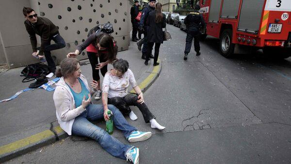 Пострадавшие от взрыва в Праге