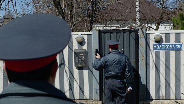 Сотрудники полиции у дома балерины Анастасии Волочковой
