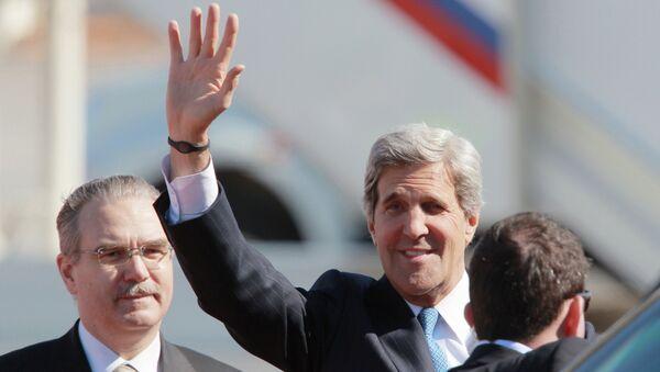 Прилет Госсекретаря США Джона Керри в Москву