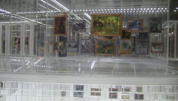 Макет экспозиции Государственного музея нового западного искусства