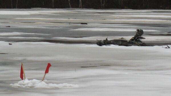 На месте крушения вертолета Ми-8 в Иркутской области