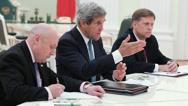 Государственный секретарь США Джон Керри в Кремле