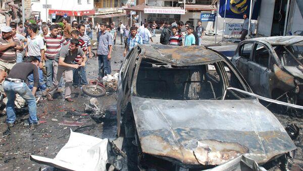 Последствия взрывов в Рейханлы, Турция
