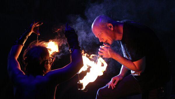 Выступление группы Infected Mushroom на музыкальном фестивале Кубана