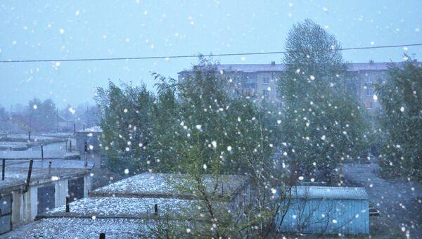 Снегопад в Кызыле