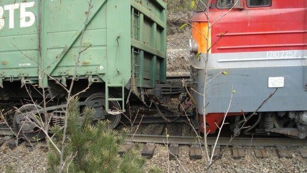 Сход вагонов. Архивное фото