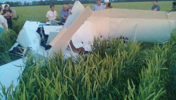 Самолет упал в Краснодарском крае