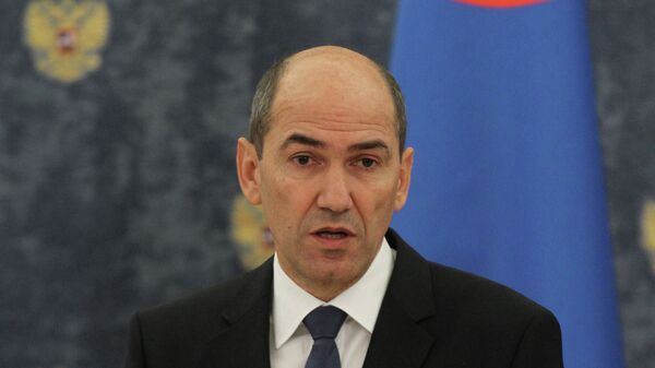Премьер-министр Словении Янез Янша. Архив
