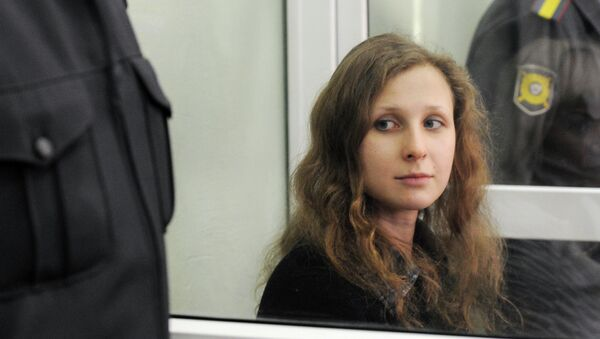Участница группы Pussy Riot Мария Алехина в суде. Архив
