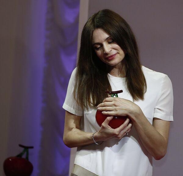 Актриса Оксана Фандера на Вручении премии Олега Янковского Творческое открытие 2012-2013