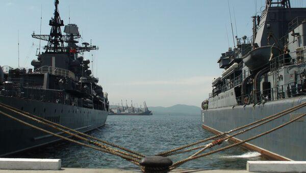 Корабли ТОФ во Владивостоке. Архив.