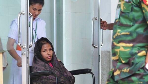 Решма, найденная под завала в Бангладеш