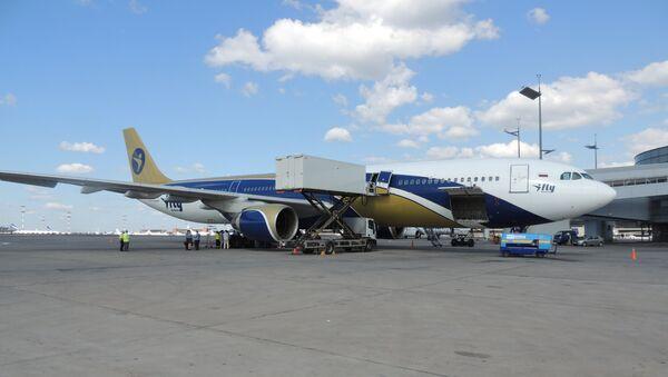 Самолет, в котором обнаружили тело мужчины в аэропорту Внуково