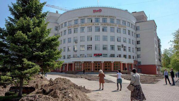 Сквер перед зданием управления Западно-Сибирской железной дороги (ЗСЖД)