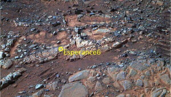 Камень Esperance6, где марсоход Opportunity обнаружил признаки существования в прошлом на Марсе пресной воды