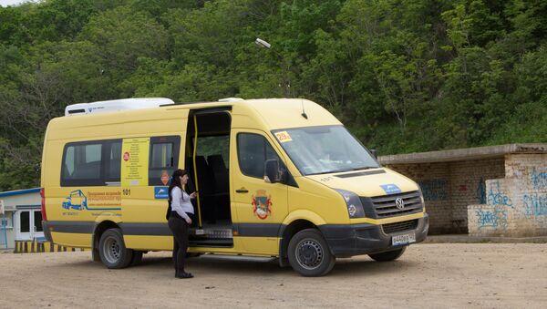 Автобус на острове Русский во Владивостоке