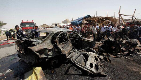 На месте взрыва в городе Наджаф в Ираке