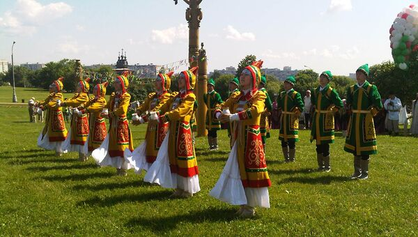Якутский традиционный праздник Ысыах в московском музее-заповеднике Коломенское. Архивное фото