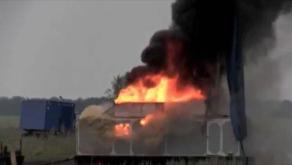 Пожар в поселке геологов в Воронежской области