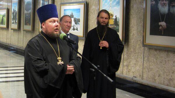 Открытие первой церковной выставки в метро