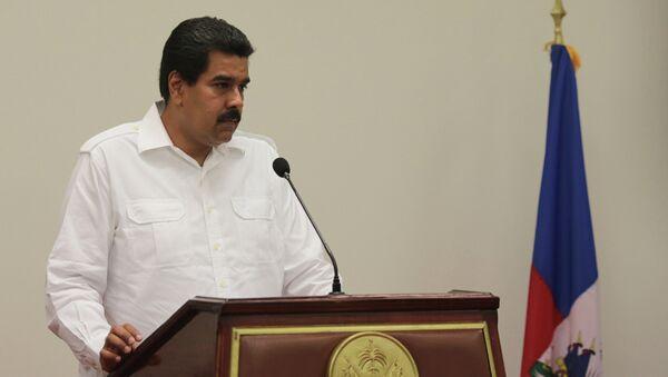 Президент Венесуэлы Николас Мадуро во время официального визита на Гаити
