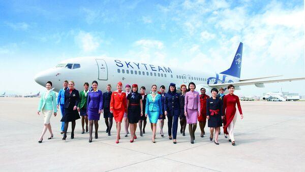 Бортпроводники альянса SkyTeam