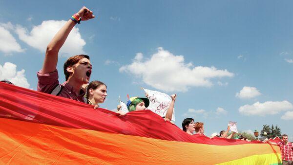 Митинг ЛГБТ-сообщества на Марсовом поле в Санкт-Петербурге