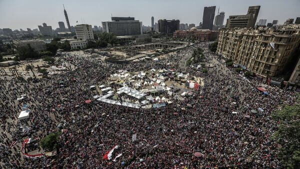 Противники президента Моххамеда Мурси митингуют на площади Тахрир