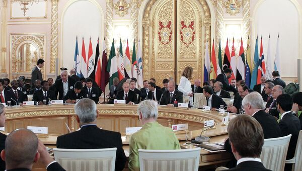 В.Путин на заседании 2-го саммита Форума стран-экспортеров газа. Архив