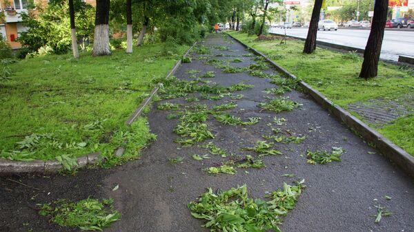 Последствия ночного разгула стихии во Владивостоке