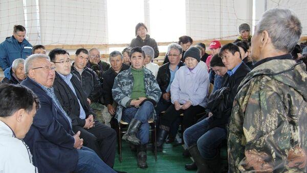 Встреча Егора Борисова с родственниками пассажиров, погибших в аварии Ми-8