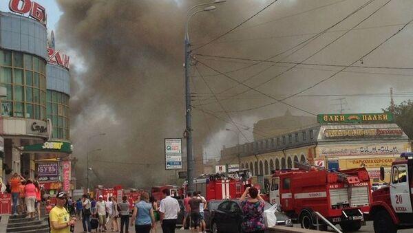 Пожар в ТЦ в Лефортово