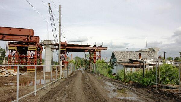 Строительство третьего моста в Новосибирске