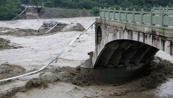 Последствия наводнения в Китае. Архивное фото
