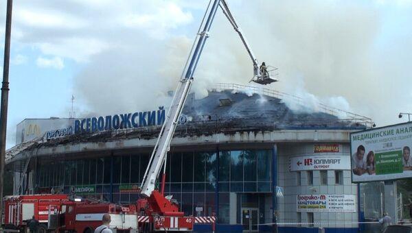 Пожар в торговом центре в Ленобласти