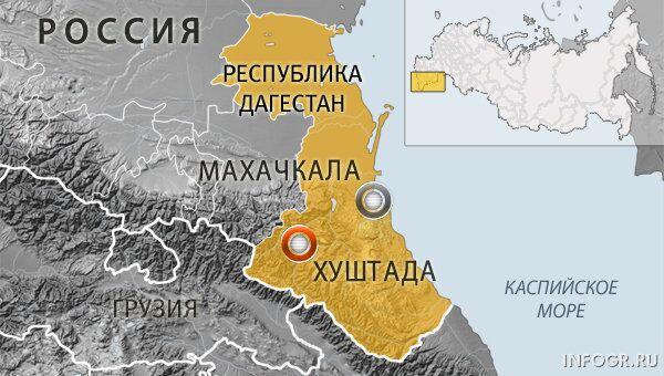 Селение Хуштада Цумадинского района Дагестана