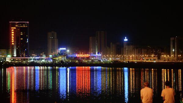 Ночная подсветка в Казани. Архивное фото