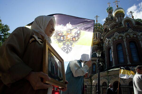 Крестный ход, посвященный памяти Николая II и его семьи
