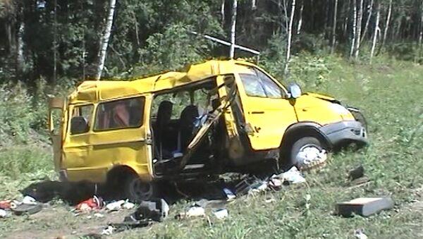 Последствия ДТП под Нижним Новгородом, где погибли пятеро паломников